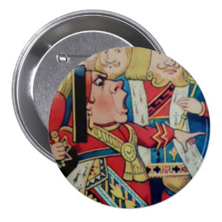 "Alice-Queen Of Hearts - 3"" Button"