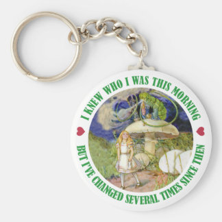 ALICE SAYS, I KNEW WHO I WAS THIS MORNING KEY RING