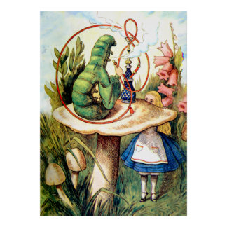 Alice Seeks Advice From a Caterpillar Poster