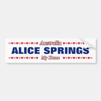 ALICE SPRINGS - My Home - Australia; Hearts Bumper Sticker