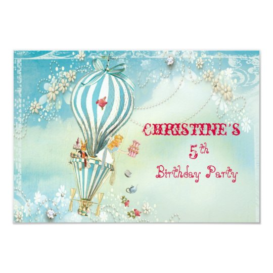Alice Tea At Four RSVP Card