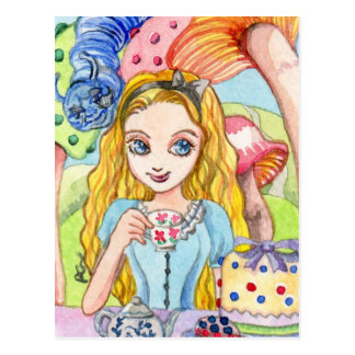 Alice Tea Party Post Card