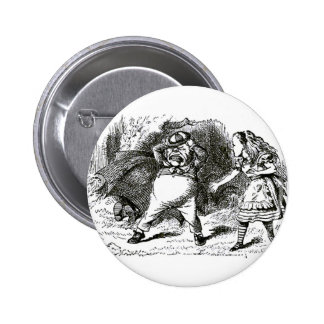 Alice & the Angry Tweedle 6 Cm Round Badge