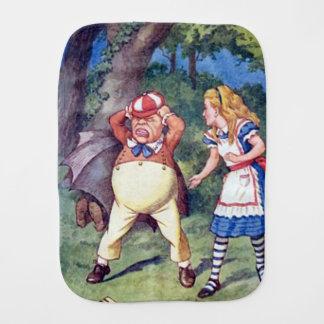 Alice & the Angry Tweedle Burp Cloth