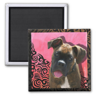 Alice the Boxer Pup by Jen Geraghty Magnets