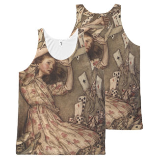 Alice & the Cards by Arthur Rackham All-Over Print Tank Top