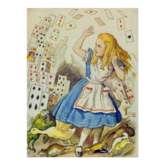 Alice & the Cards Full Color Poster