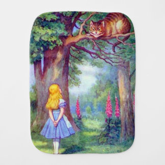 Alice & the Cheshire Cat Burp Cloth