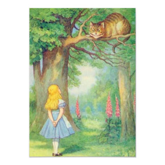 Alice & the Cheshire Cat Full Color Card