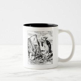 Alice, the Gryphon and the Mock Turtle Two-Tone Coffee Mug