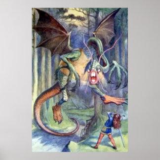 Alice & the Jabberwocky Full Color Poster