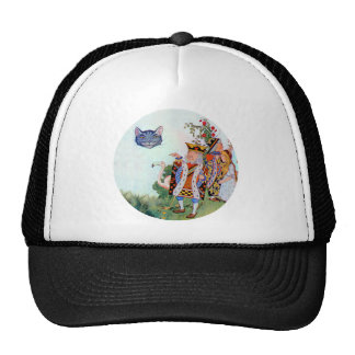 Alice, The King of Hearts and the Cheshire Cat Cap