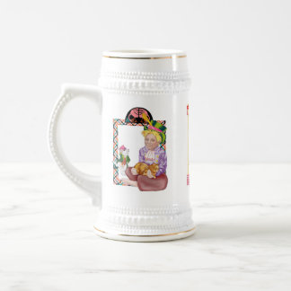 alice, the mad hatter and the red queen beer stein