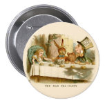"""Alice - The Mad Tea Party - 3"""" Button Pin"""