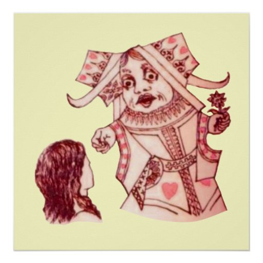 Alice & the Queen by Lewis Carroll Poster