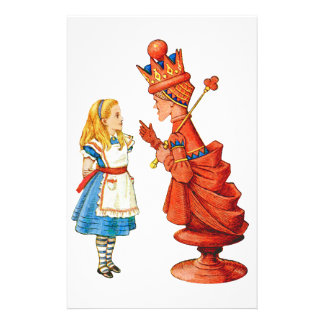 Alice & The Red Queen Personalized Stationery