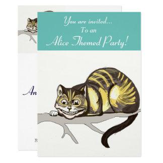Alice Themed Party Invite