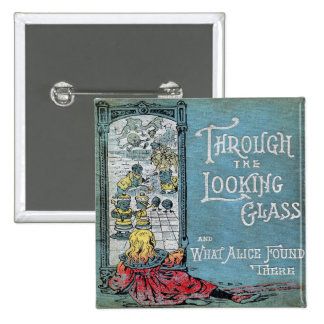 Alice Through The Looking Glass 15 Cm Square Badge