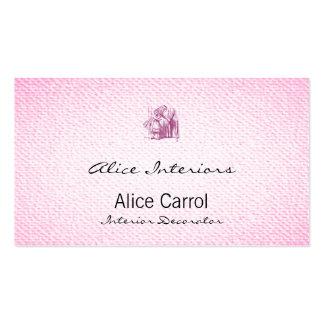Alice Tiny Door Pack Of Standard Business Cards
