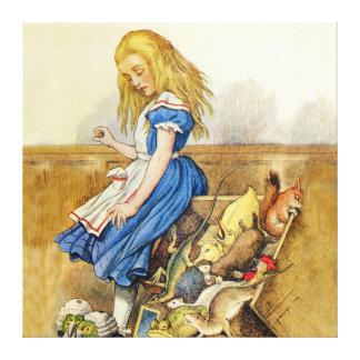Alice Tips the Jury Box In Wonderland Canvas Print