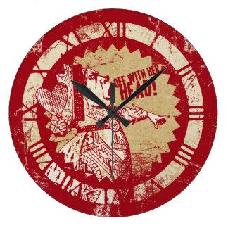 Alice Vintage Red Queen Clocks