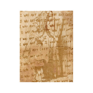 Alice Wasn't Lost (Vintage Sepia Version) Wood Poster