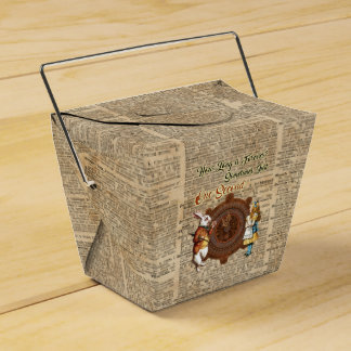 Alice & White Rabbit Vintage Dictionary Art Quote Favour Box