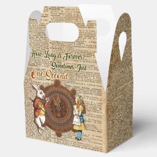 Alice & White Rabbit Vintage Dictionary Art Quote Party Favour Boxes