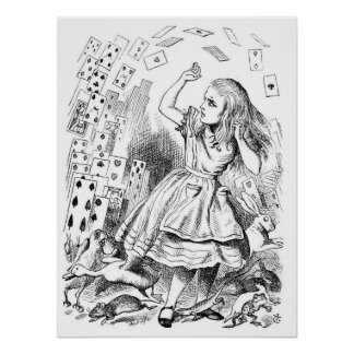 Alice with Cards Poster