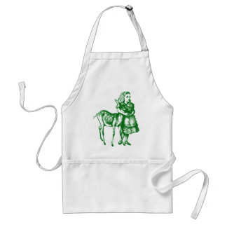 Alice with Fawn Inked Green Standard Apron