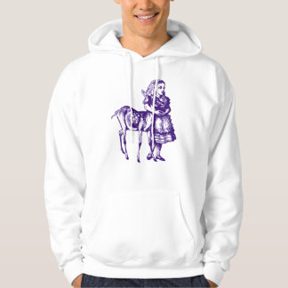 Alice with Fawn Inked Purple Hoodie