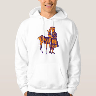 Alice with Fawn Inked Purple Orange Hoodie
