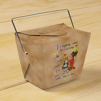Alice with The Duchess Vintage illustration Favour Boxes