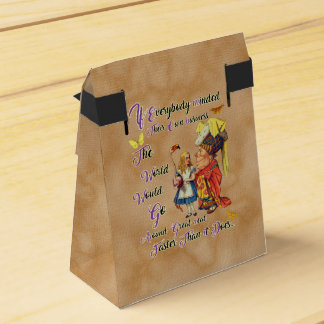 Alice with The Duchess Vintage illustration Wedding Favour Boxes