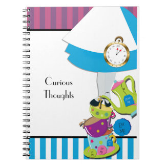 Alice Wonderland Tea Party Notebook Journal