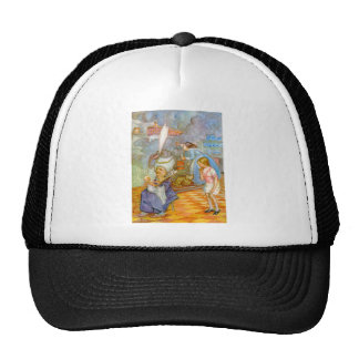 ALICEMEETS THE PIG IN THE DUCHESS' KITCHEN CAP