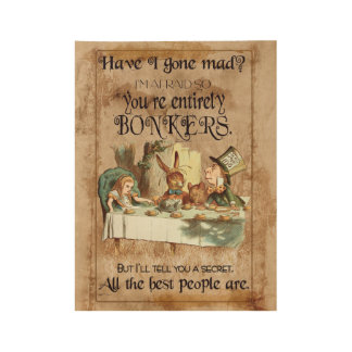 Alice's Adventures In Wonderland, Grunge Retro Wood Poster