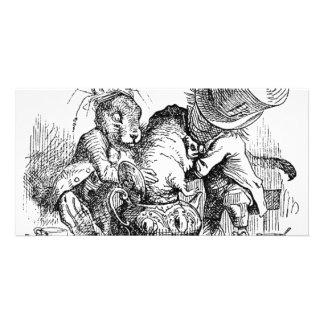 Alice's Adventures in Wonderland Photo Card Template