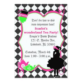 Alice's Mad Tea Party Invite