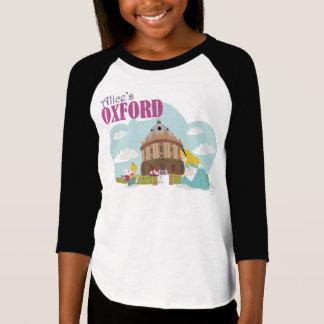 Alice's Oxford Girls' Raglan T-Shirt, White/Black T Shirts