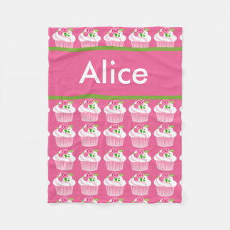 Alice's Personalized Cupcake Blanket
