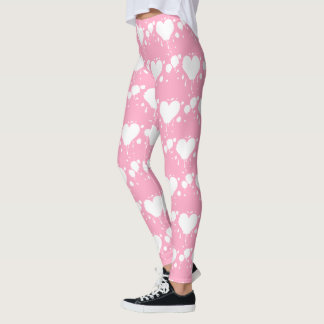 Alice's Queen of the Gothic Bleeding Hearts Pink Leggings