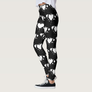 Alice's Queen of the Gothic Bleeding Hearts White Leggings