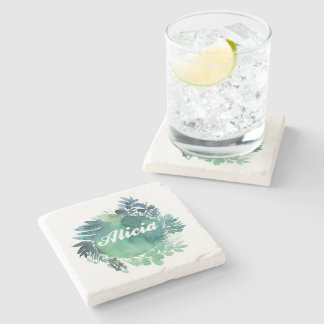 Alicia foliage stone coaster