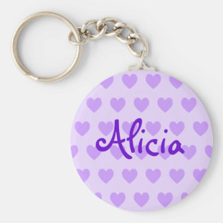 Alicia in Purple Key Ring