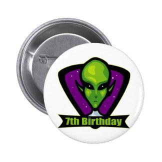 Alien 7th Birthday Gifts Button