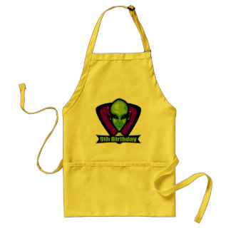 Alien 9th Birthday Gifts Adult Apron