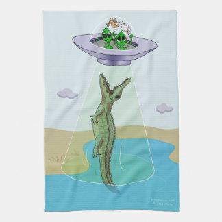 Alien Abduction Trauma Kitchen Towel