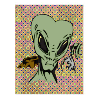 Alien Abductions Of Mice Postcard
