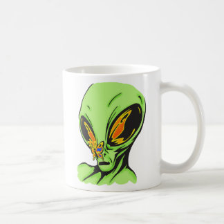 Alien and Butterfly Coffee Mug
